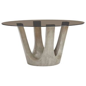"""60"""" Glass Top Flying Buttress Dining Table"""