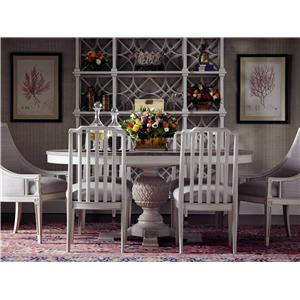 Stanley Furniture Preserve 7-Piece Artichoke Pedestal Table Set