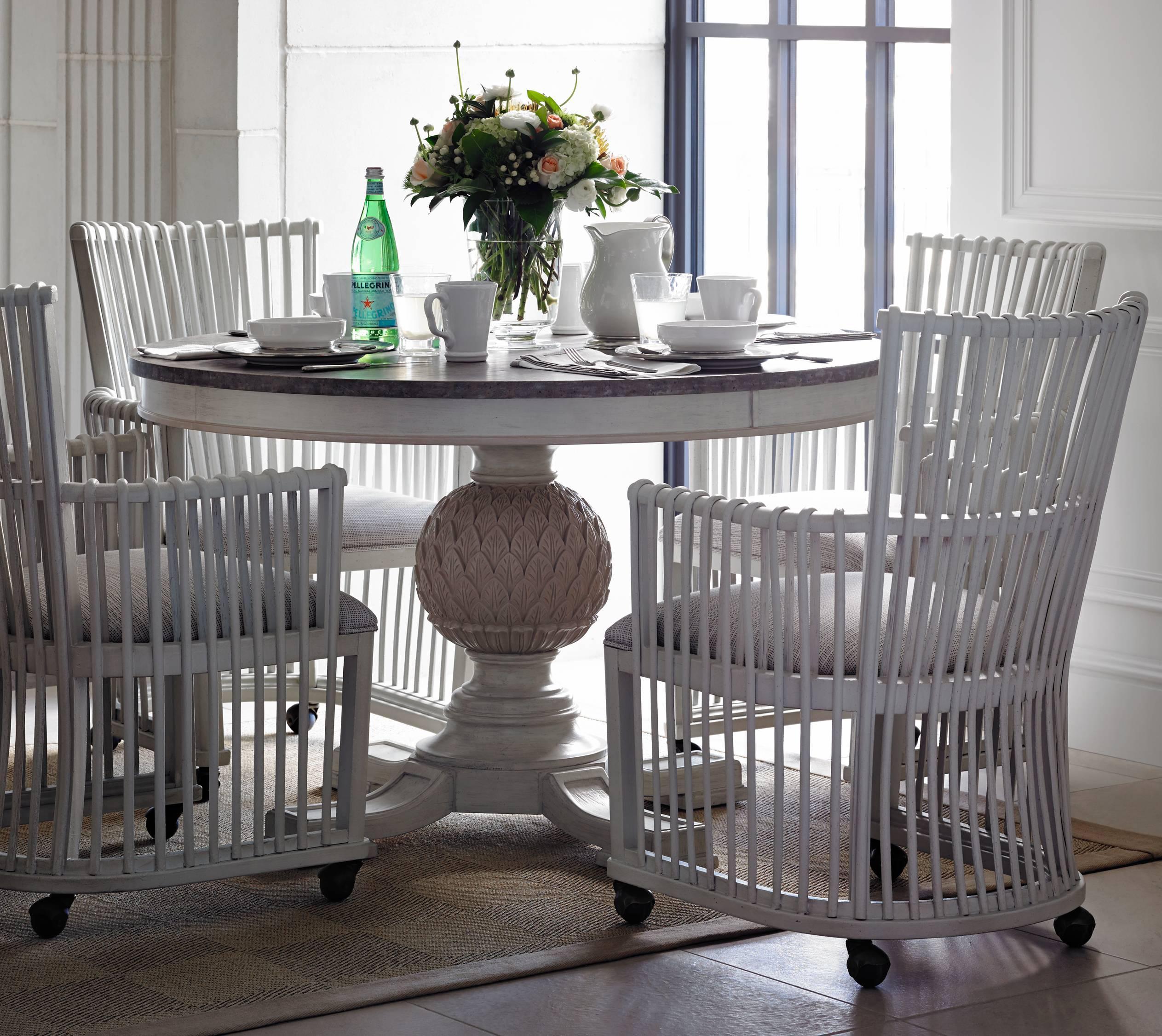 Stanley Furniture Preserve 5-Piece Artichoke Pedestal Table Set - Item Number: 340-21-30+4x69