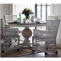 Stanley Furniture Preserve 5-Piece Artichoke Pedestal Table & Hampton Club Chair Set