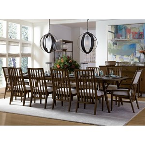 Stanley Furniture Santa Clara 11-Piece Rectangular Dining Table Set