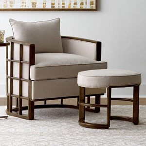 Stanley Furniture Santa Clara Accent Chair & Ottoman