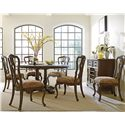 """Stanley Furniture Rustica 64"""" Round Table & Chair Set - Item Number: 208-11-31+6x60"""