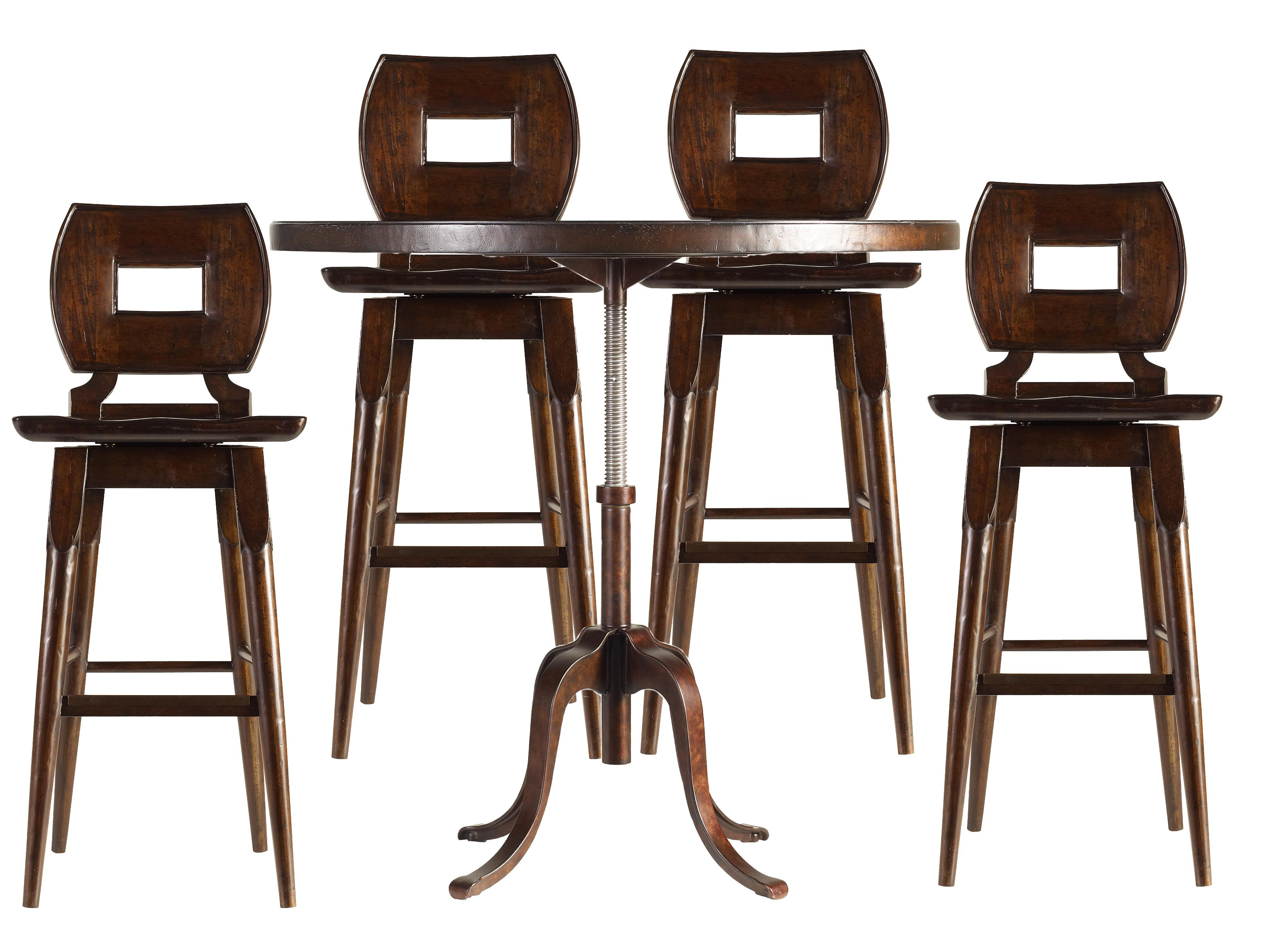 Stanley Furniture The Classic Portfolio Artisan 5Pc Adjustable Height Table and Bar Stools - Item Number: 135-11-230+130+4x73