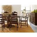 Stanley Furniture The Classic Portfolio Artisan Classic Single Pedestal Table with Distressed Wood - Shown with Buffet, Arm Chair, and Side Chair