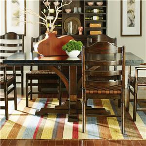 Stanley Furniture The Classic Portfolio Artisan Two-Tone Pedestal Table