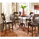 Stanley Furniture The Classic Portfolio Artisan Classic Wood Counter Stool  - Shown with Adjustable Round Table