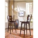 Stanley Furniture The Classic Portfolio Artisan Classic Wood Bar Stool with Swivel Seat