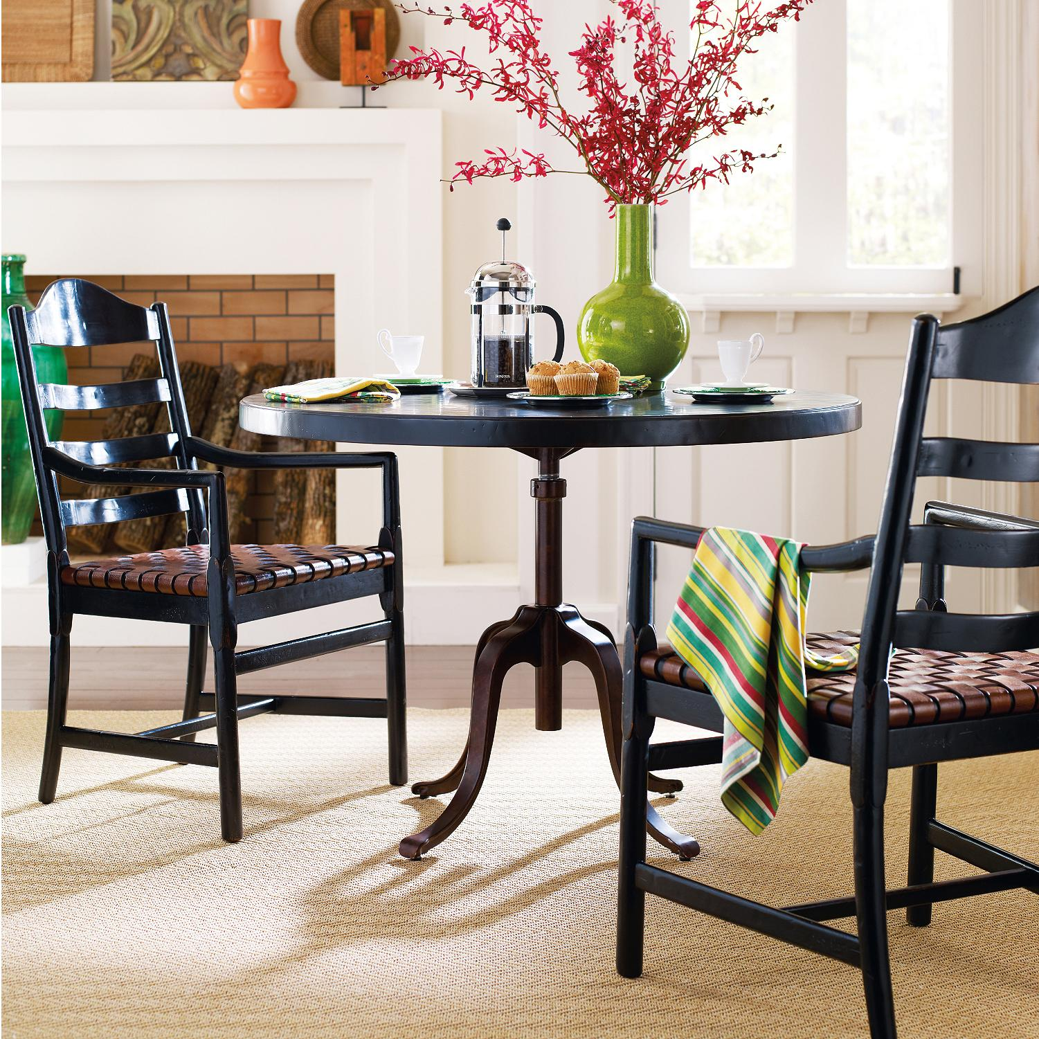 Stanley Furniture The Classic Portfolio Artisan 3 Piece Round Table with Arm Chairs - Item Number: 135-81-230+130+2x70