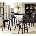 Stanley Furniture The Classic Portfolio Artisan 5 Piece Adjustable Height Table and Wood Bar Stools