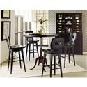 Stanley Furniture The Classic Portfolio Artisan Classic Wood Bar Stool with Swivel Seat - Shown with Pub Table, Buffet, and Hutch
