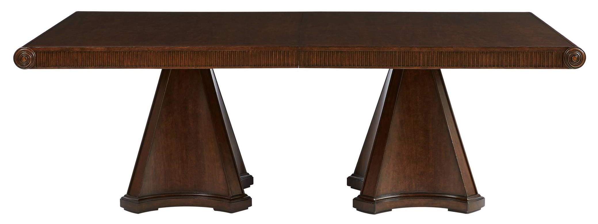 Stanley Furniture Villa Couture Dante Double Pedestal Table - Item Number: 510-11-36