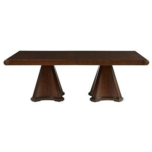 Stanley Furniture Villa Couture Dante Double Pedestal Table