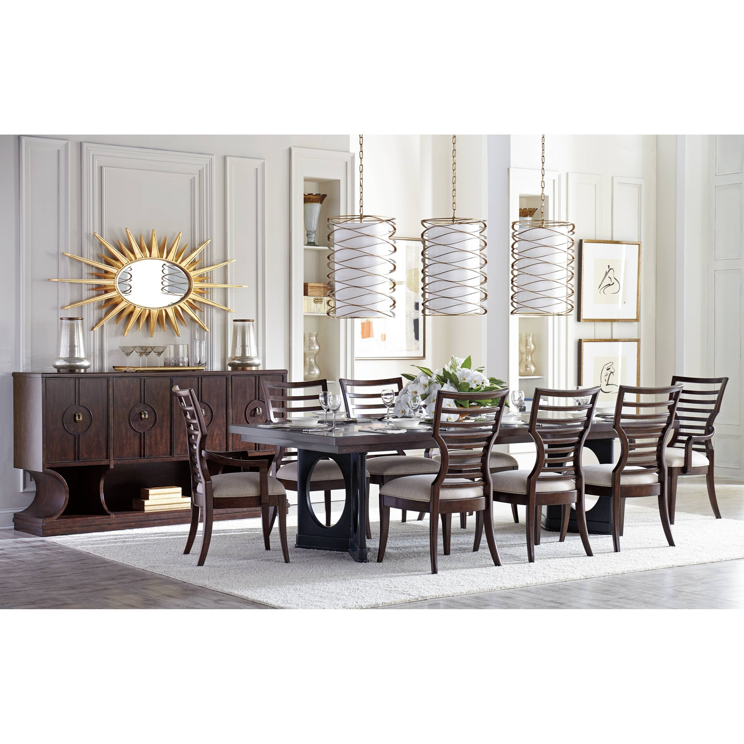 Stanley furniture virage formal dining room group becker for Formal dining room furniture