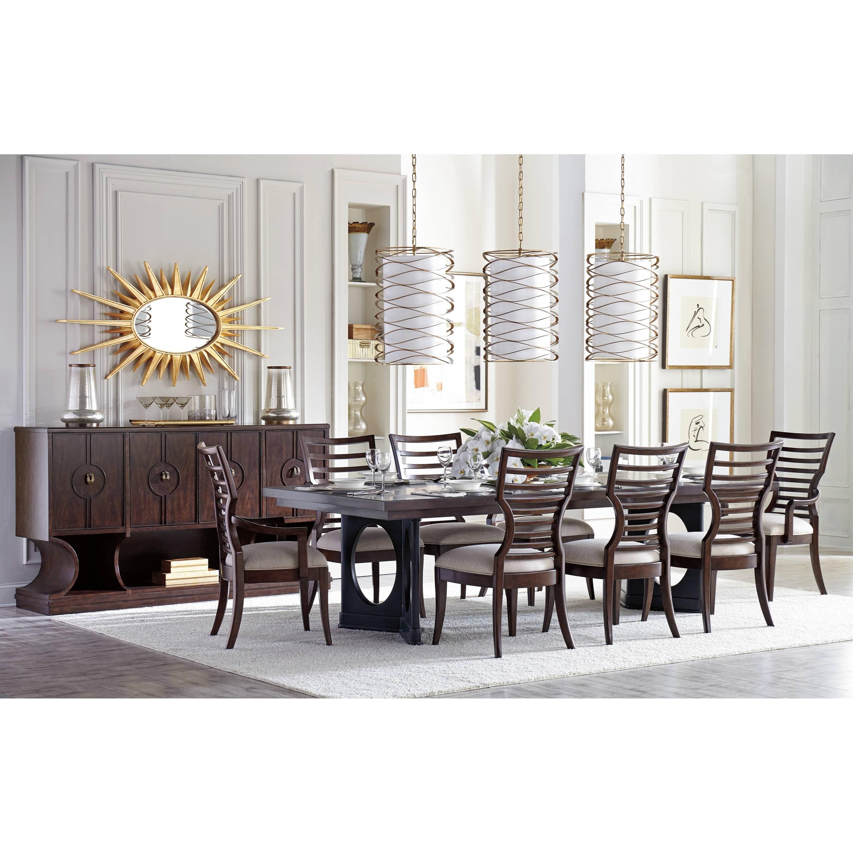 Stanley Furniture Virage 9 Piece Double Pedestal Dining