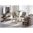 Stanley Furniture Virage Martini Table with Metal Base