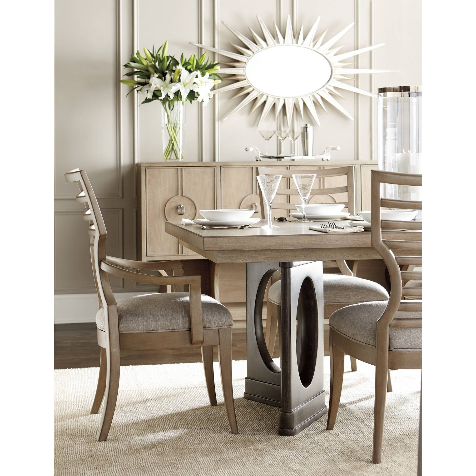 Stanley furniture virage formal dining room group dunk for Formal dining room furniture