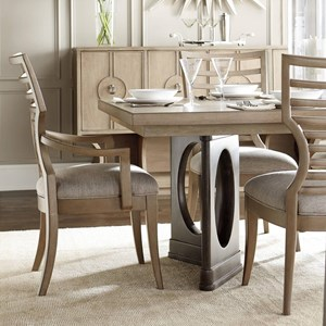 9-Piece Double Pedestal Dining Table Set