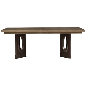 Stanley Furniture Virage Double Pedestal Dining Table