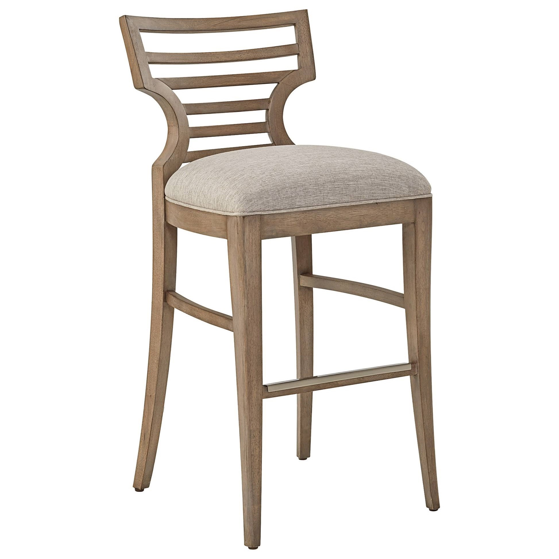 Stanley Furniture Virage Barstool with Upholstered Seat ...
