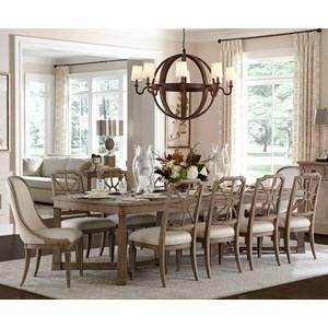 11-Piece Rectangular Dining Table Set