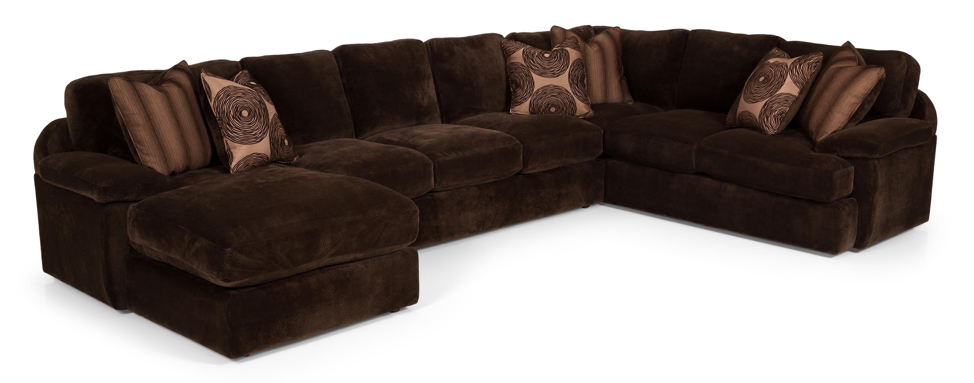3 Pc Sectional Sofa w/ RAF Chaise