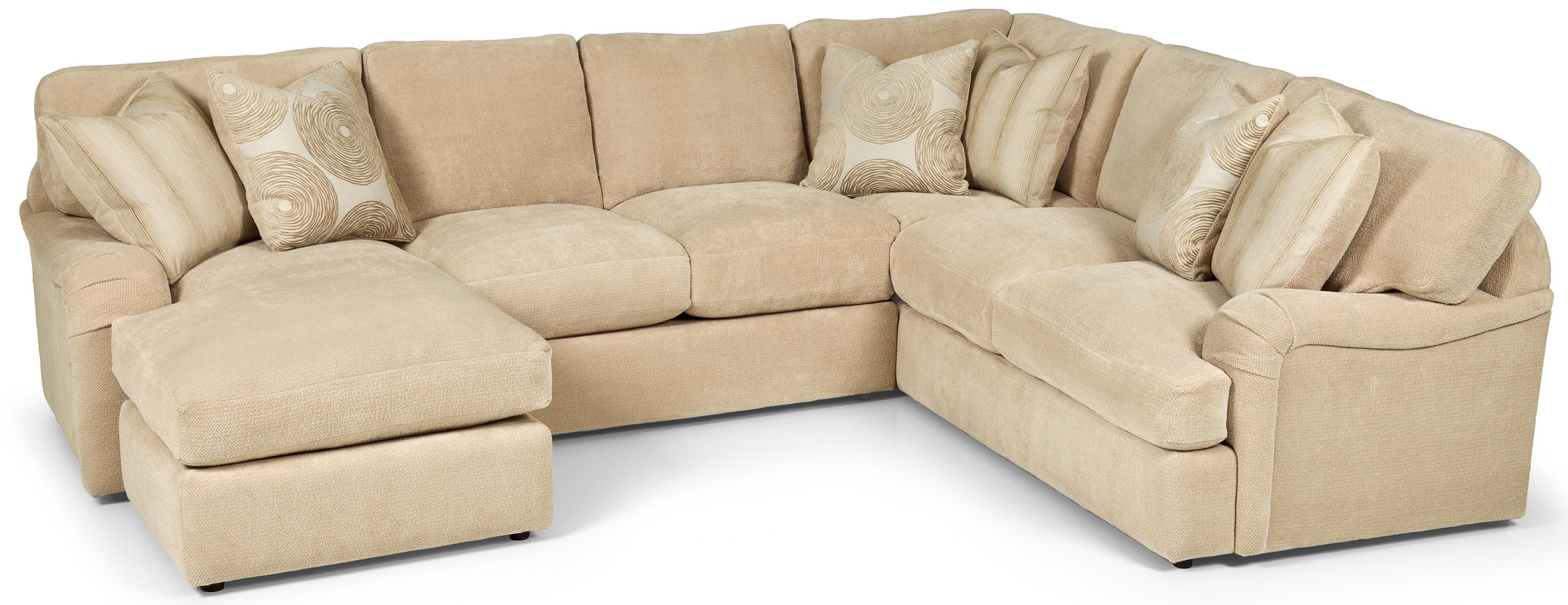 Stanton 232 casual 2 piece sectional sofa with chaise for Albany st germain sectional sofa chaise