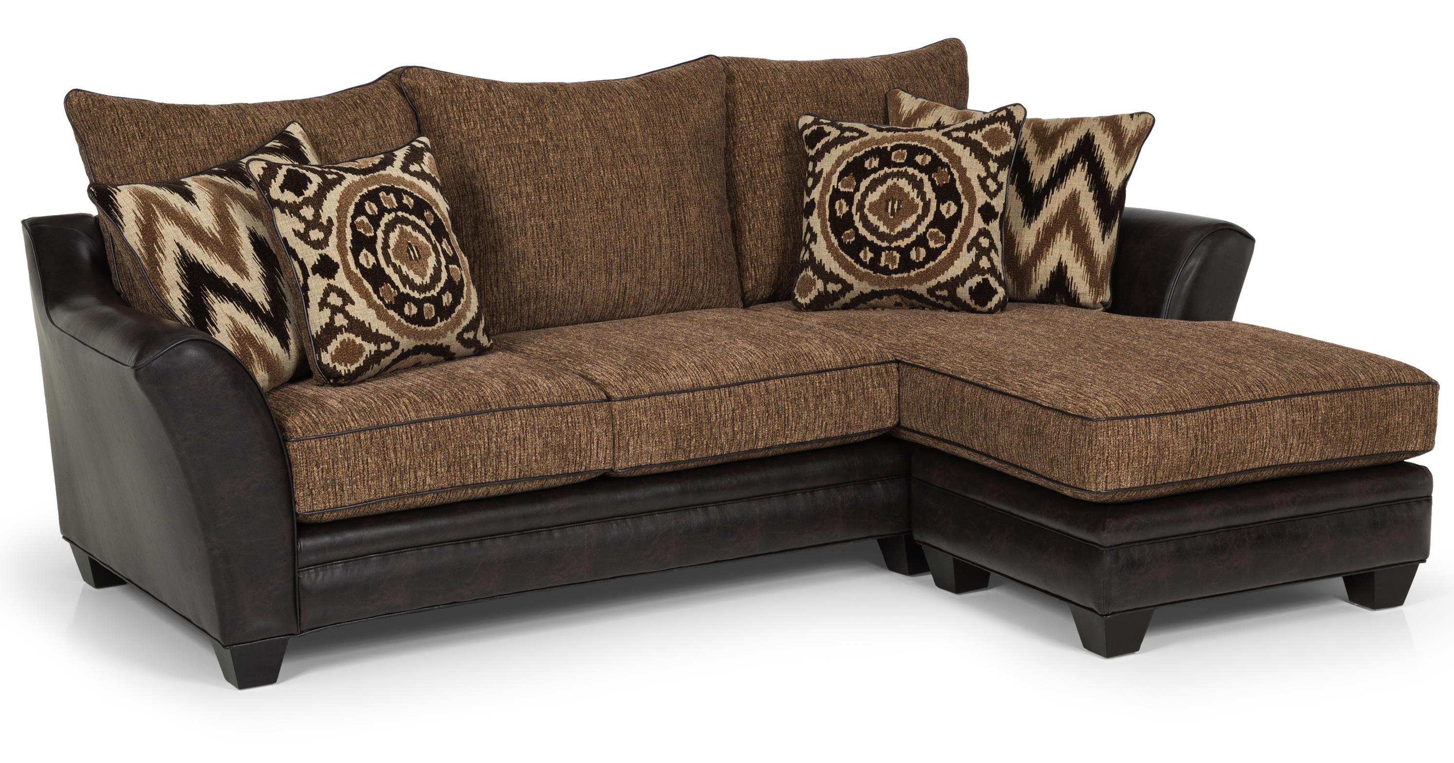 257 Sofa Chaise by Sunset Home at Sadler's Home Furnishings