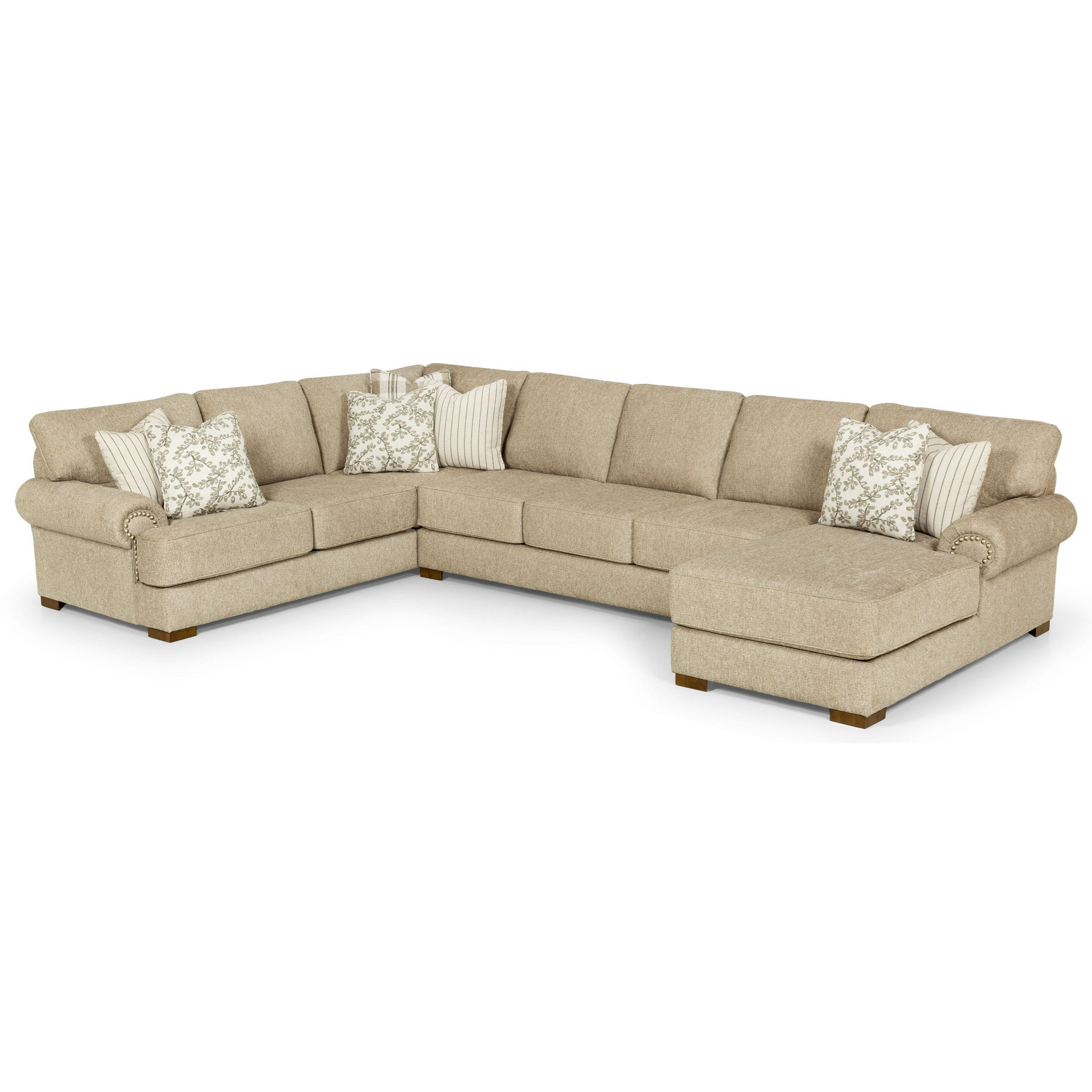 290 6-Seat Sectional Sofa w/ RAF Chaise by Stanton at Wilson's Furniture