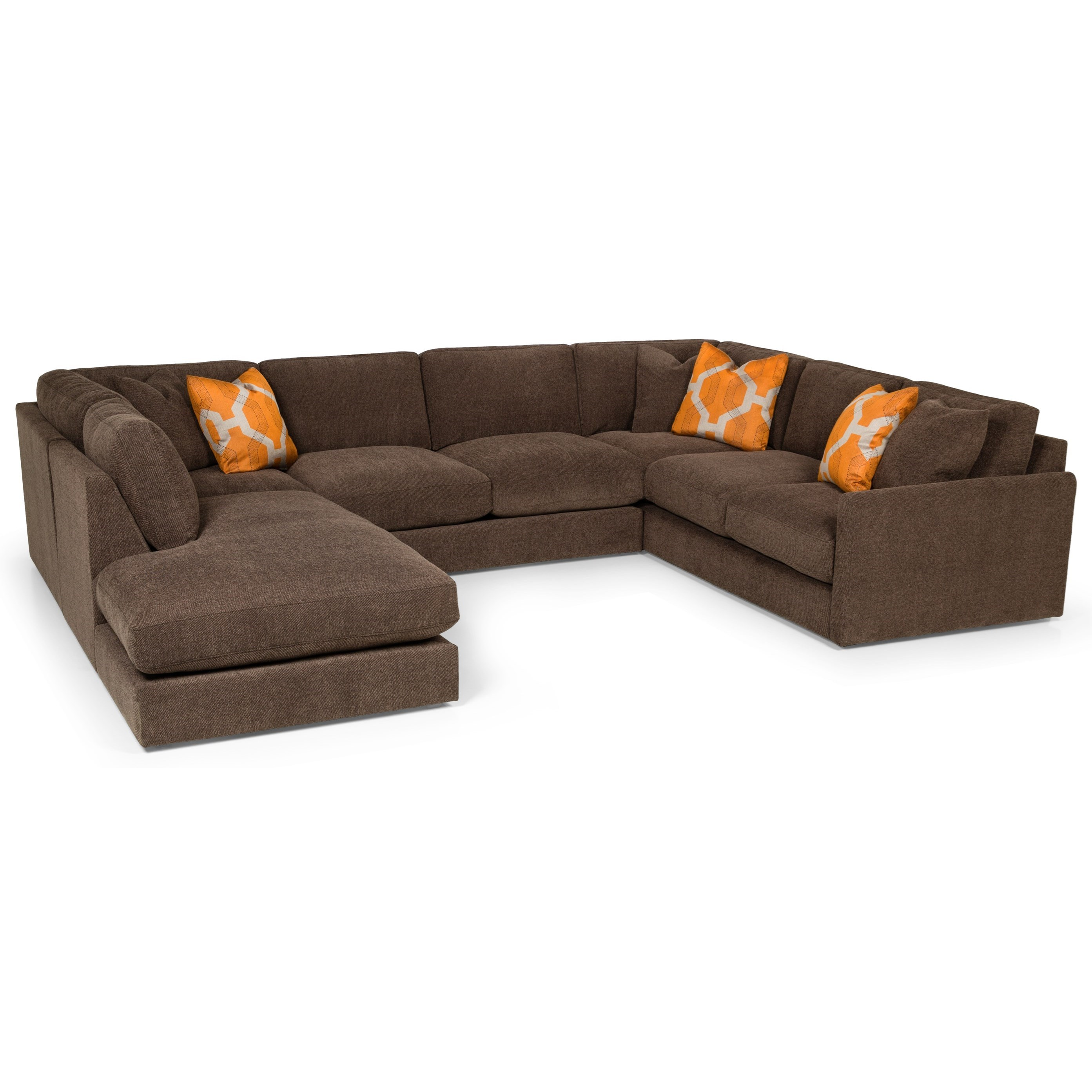 Stanton 369 Casual Sectional Sofa with Bumper Chaise Rife s Home