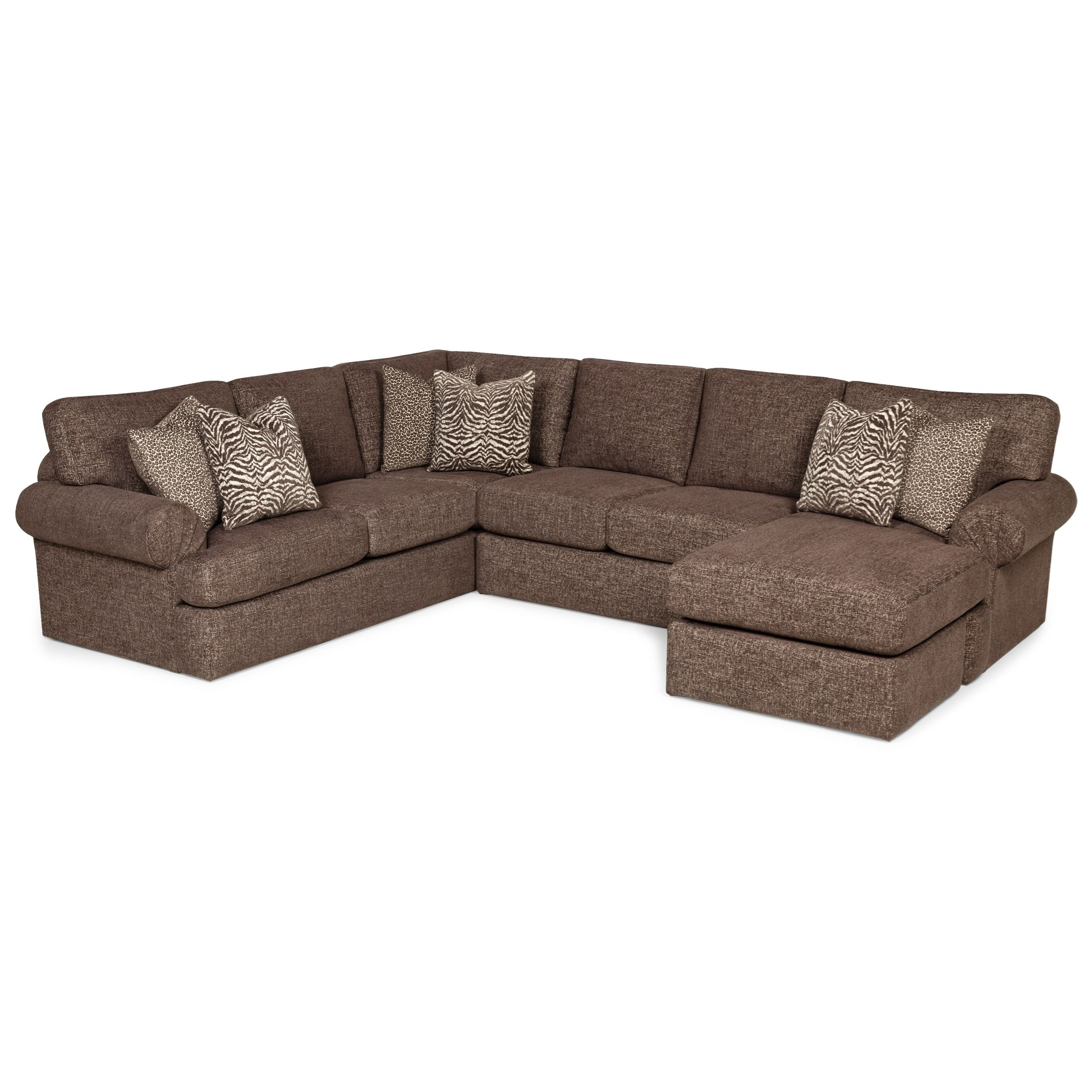 371 5-Seat Sectional Sofa w/ RAF Chaise by Stanton at Wilson's Furniture