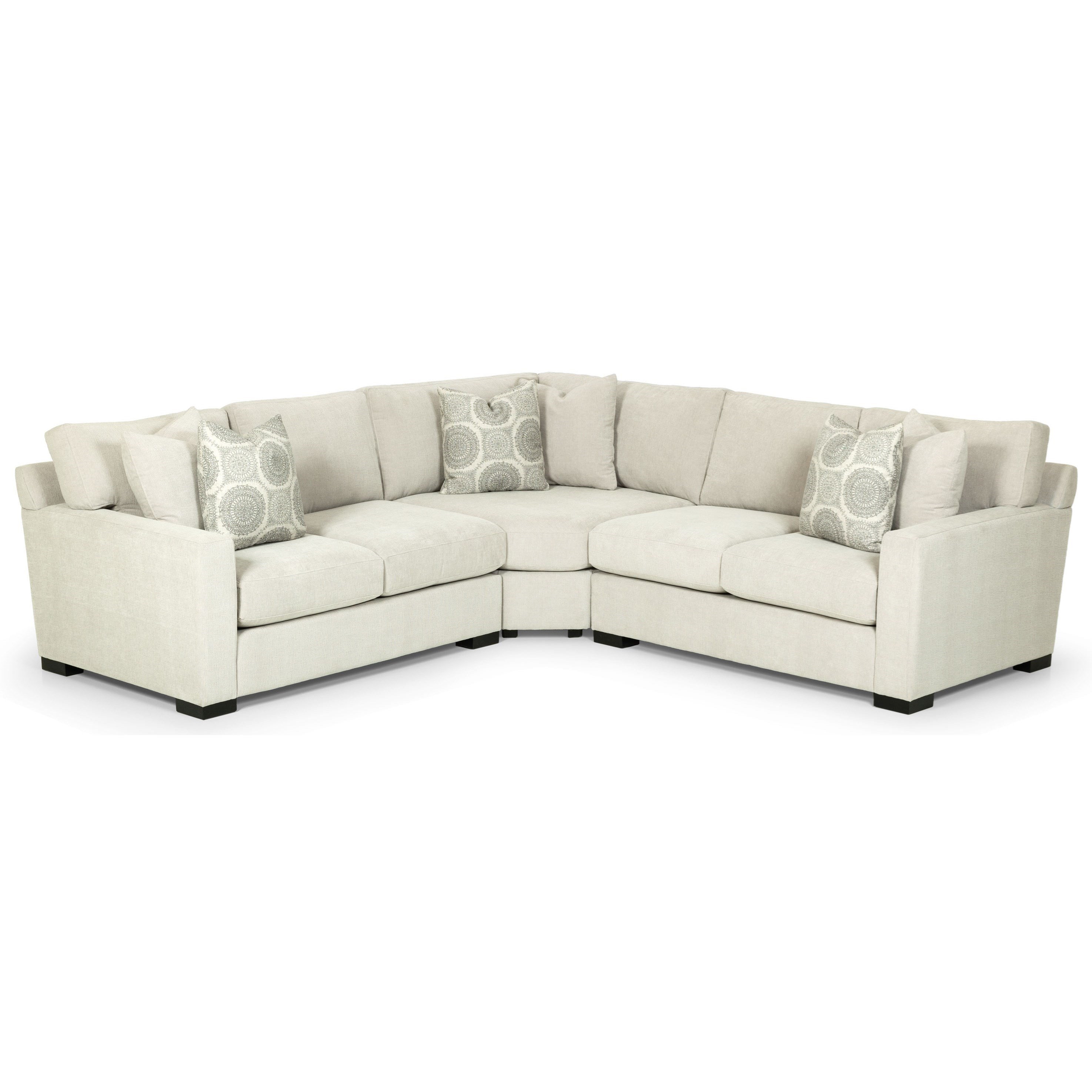 Stanton 383 Three Piece Corner Sectional Sofa Wilson S Furniture Sectional Sofas