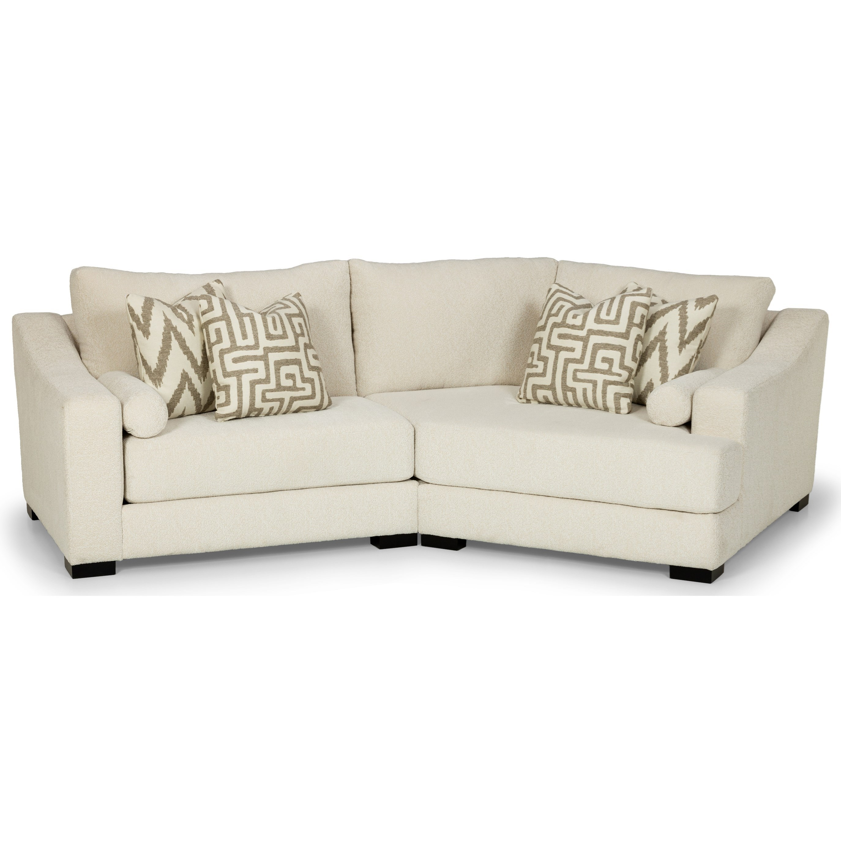 Stanton 424 Contemporary 2 Seat Modular Sofa With Right Oversized Cuddler Chair Wilson S Furniture Sectional Sofas