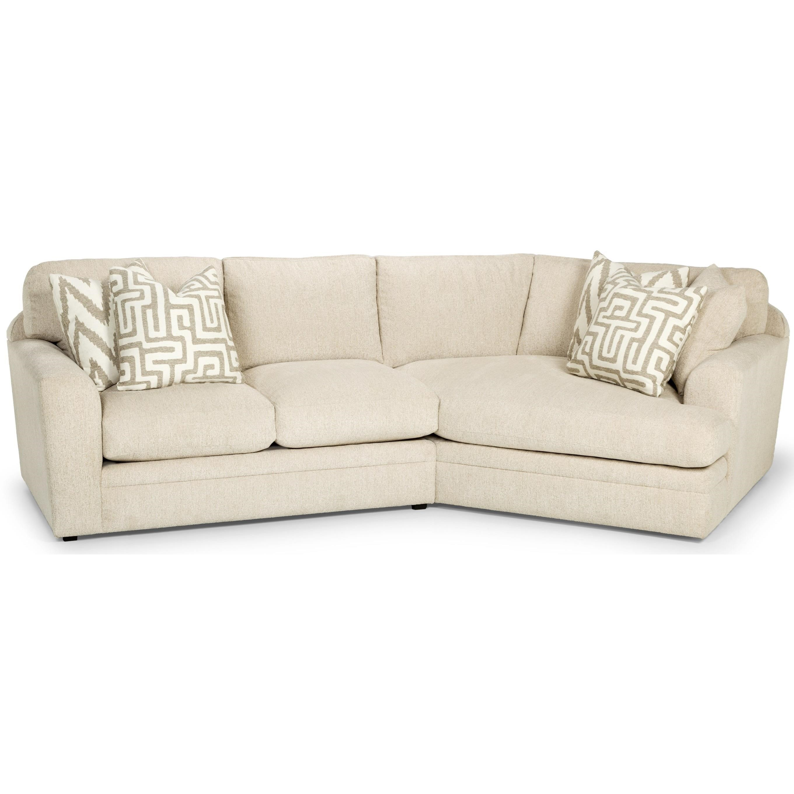 Two Piece Sectional Sofa w/ RAF Cuddler