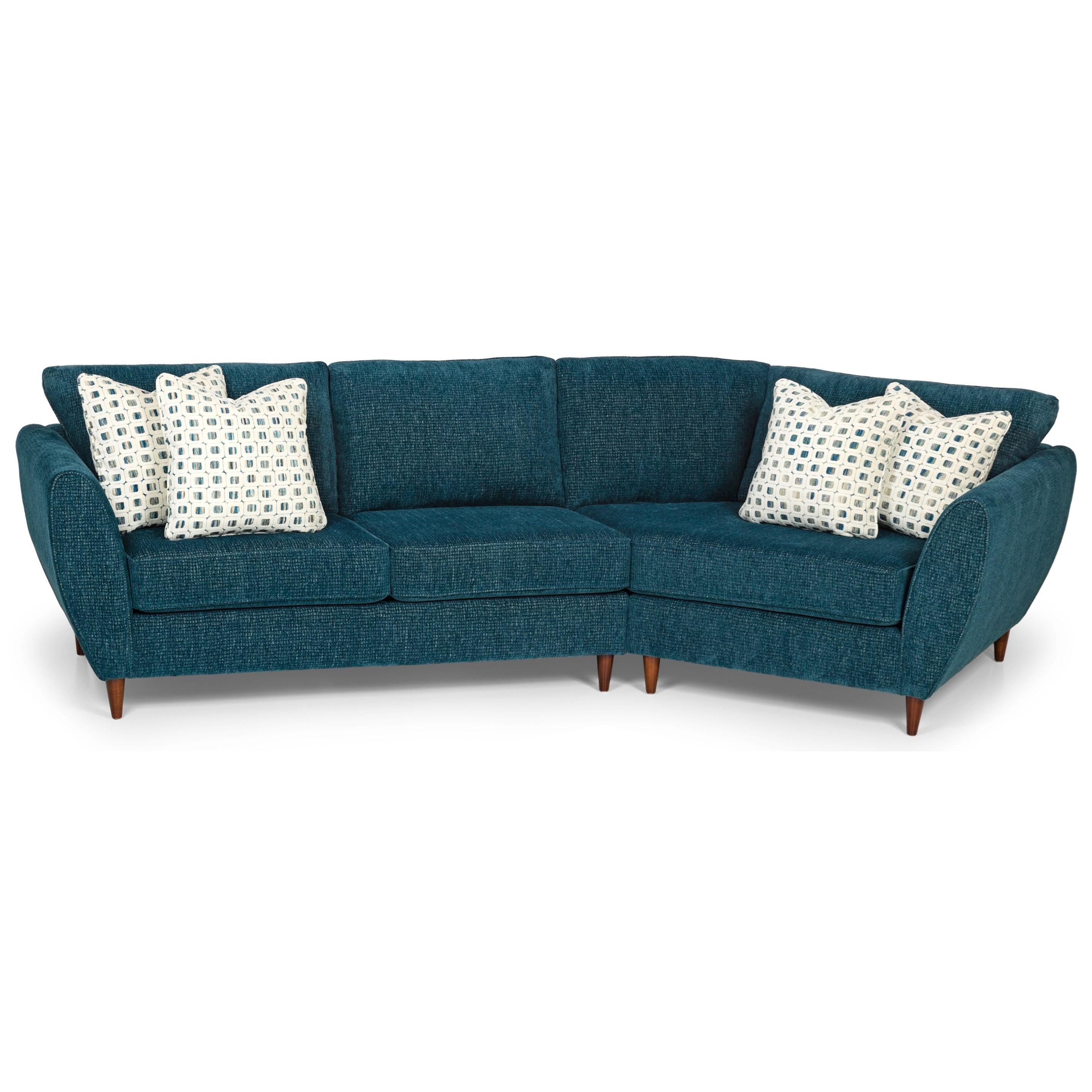 2-Piece Sectional Sofa w/ RAF Cuddler