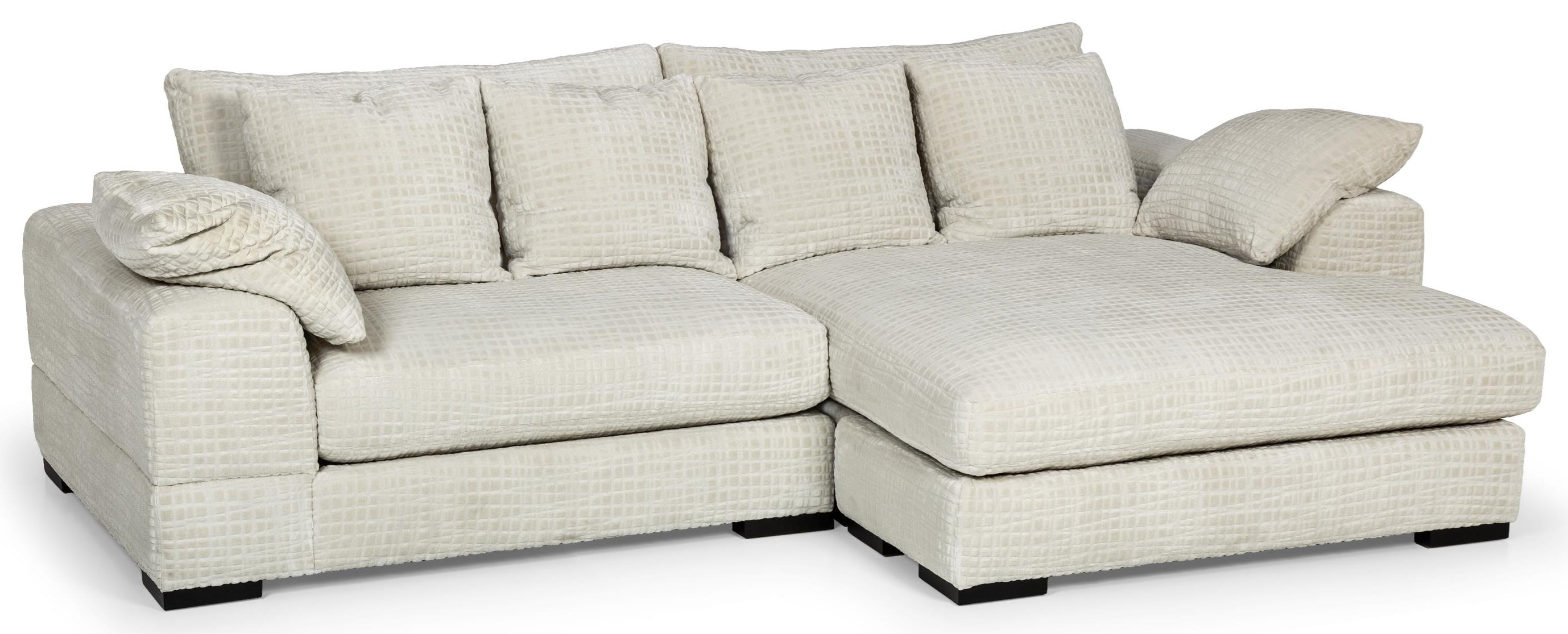 Two Piece Double Chaise Sectional Sofa