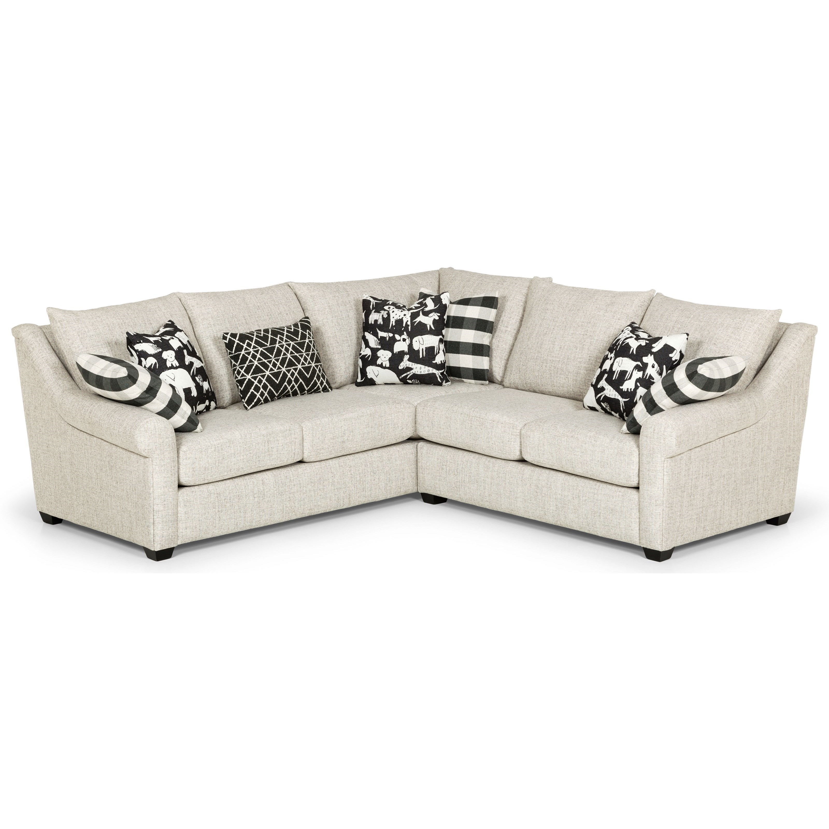 489 L-Shape Sectional by Sunset Home at Sadler's Home Furnishings