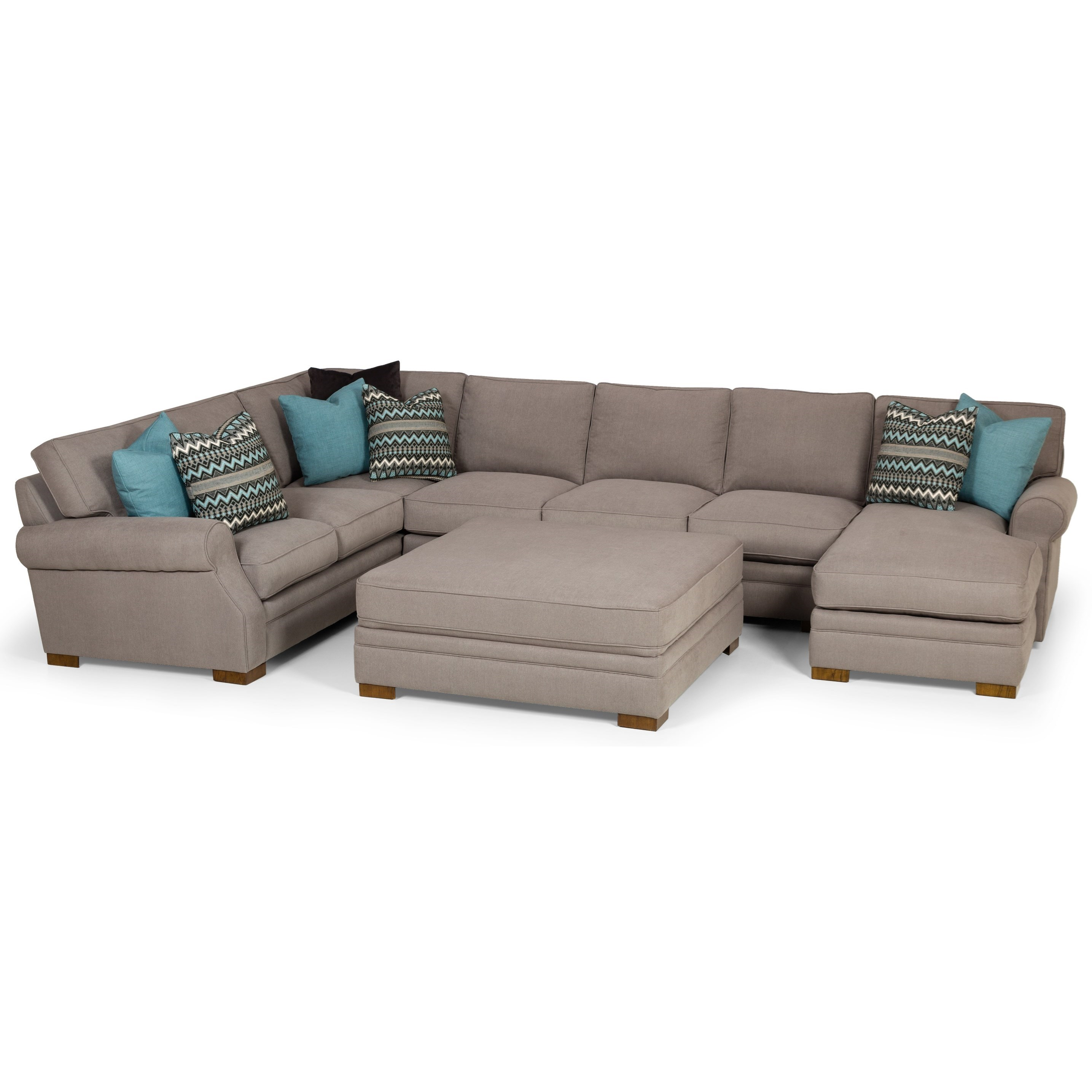 525 6-Seat Sectional Sofa w/ RAF Chaise by Stanton at Wilson's Furniture