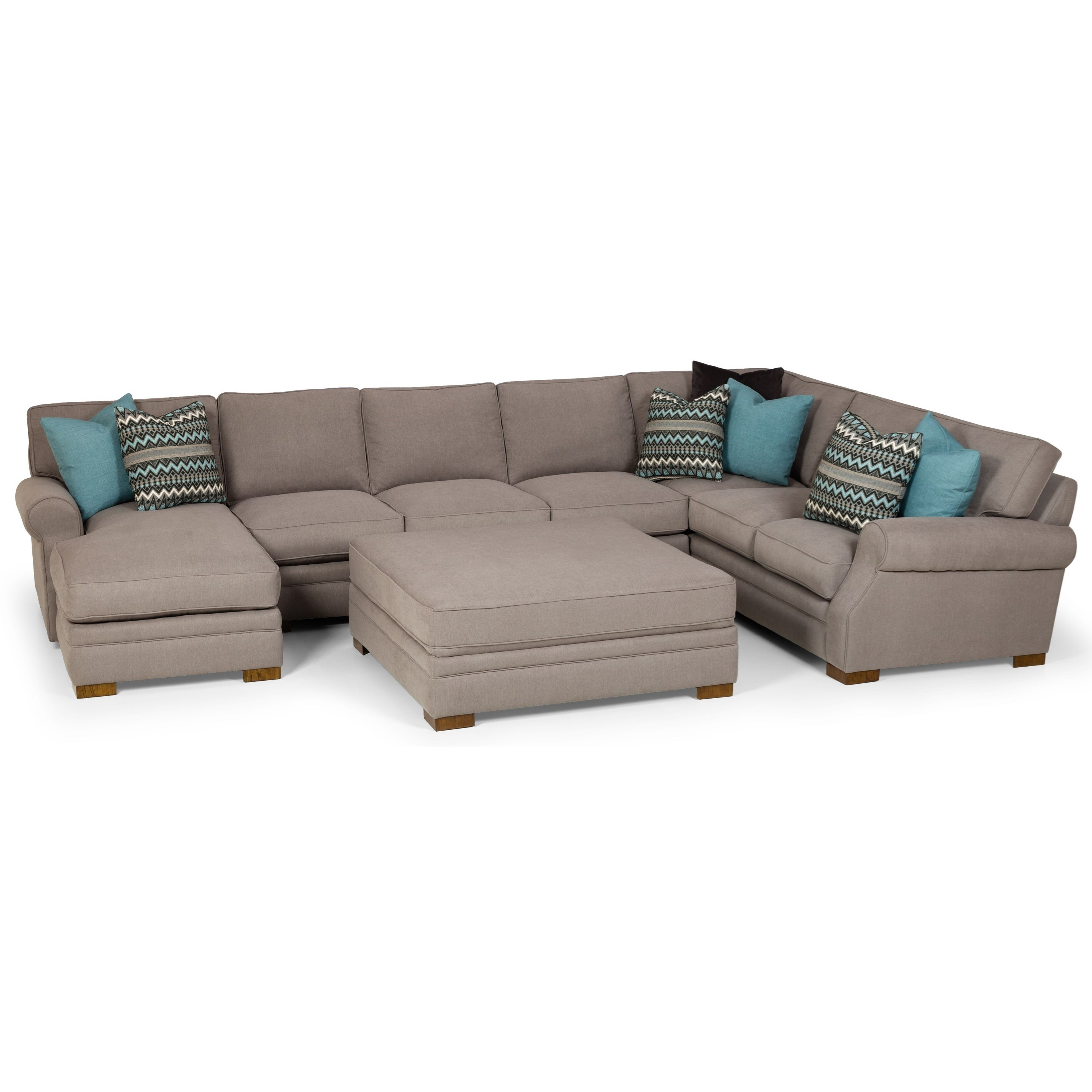 525 6-Seat Sectional Sofa w/ LAF Chaise by Stanton at Wilson's Furniture