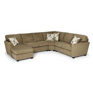 Stanton 643 3 Pc Sectional Sofa w/ RAF Chaise