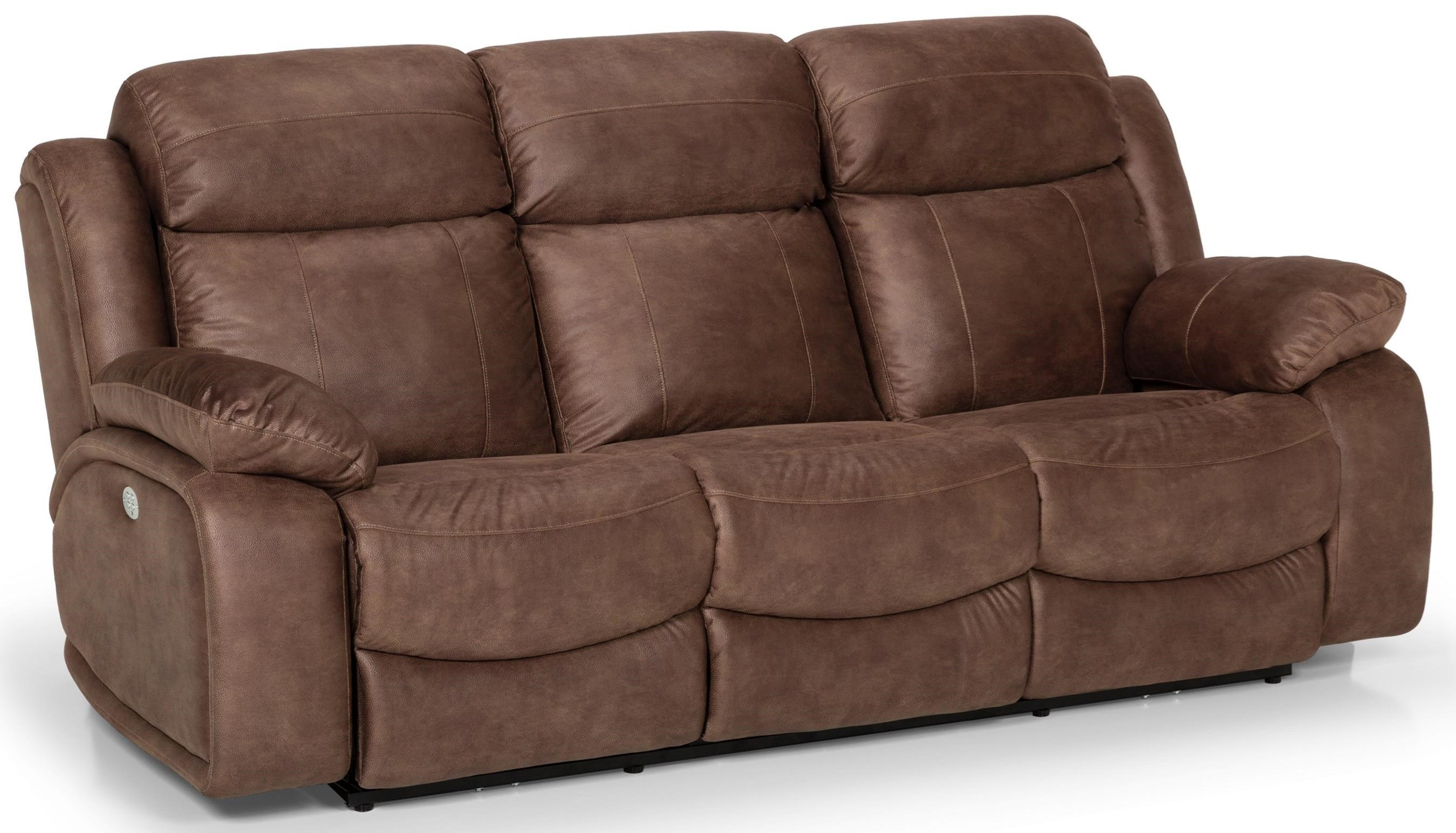 853 Dual Reclining Power Sofa w/ Pwr Head & Lumb by Stanton at Rife's Home Furniture