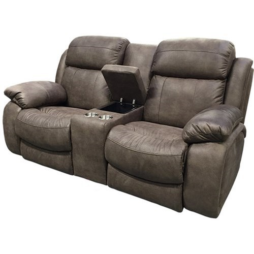 21068 Power Reclining Console Loveseat w/ Pwr Head by Sunset Home at Sadler's Home Furnishings