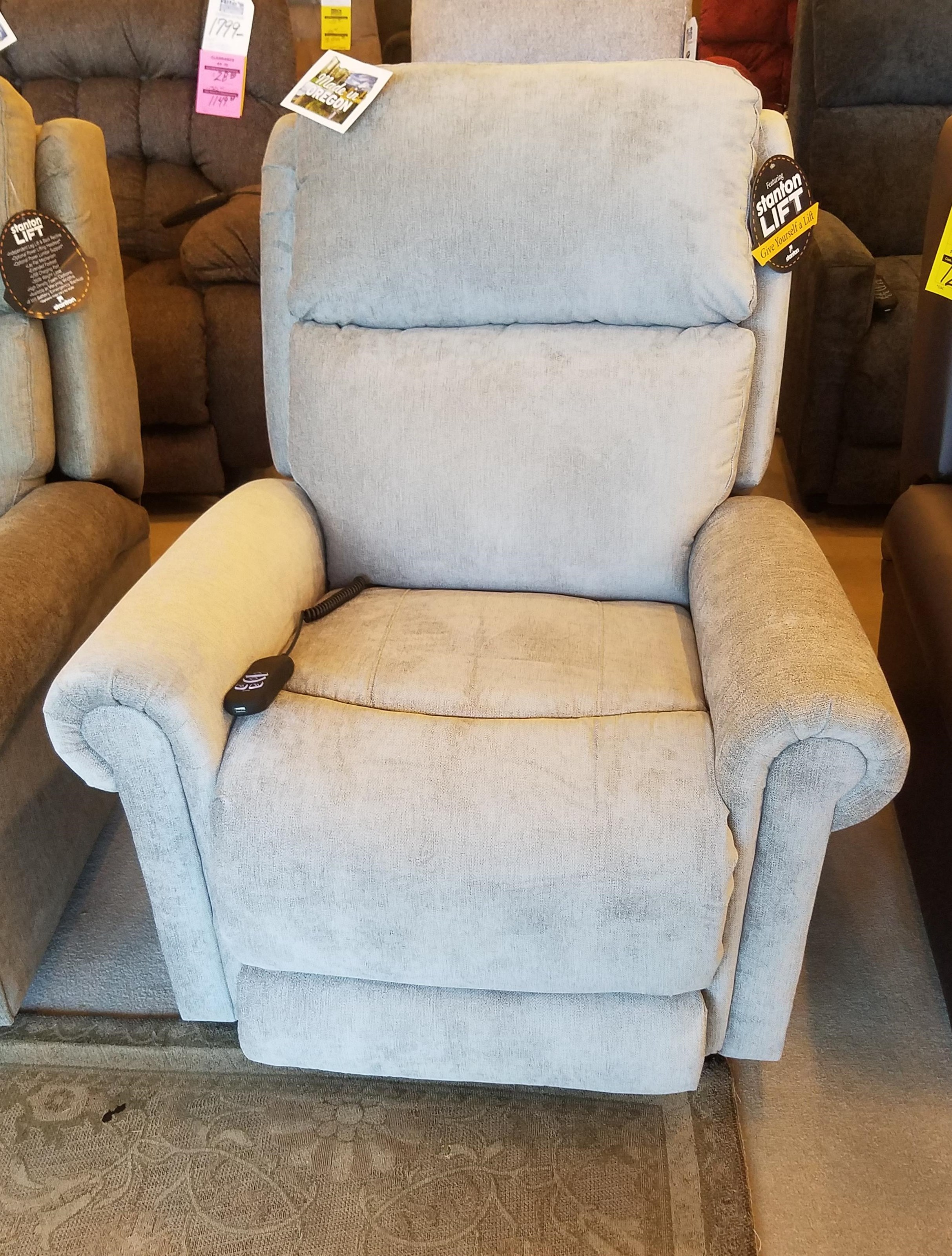 872 Power Lift Recliner by Stanton at Rife's Home Furniture