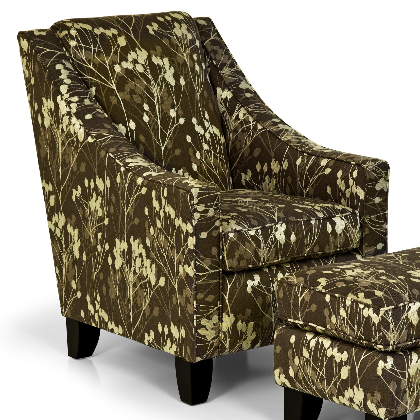 Stanton Accent Chairs and Ottomans Contemporary Accent Chair with