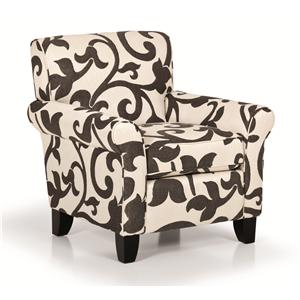 Sunset Home Accent Chairs and Ottomans Rolled Arm Accent Chair