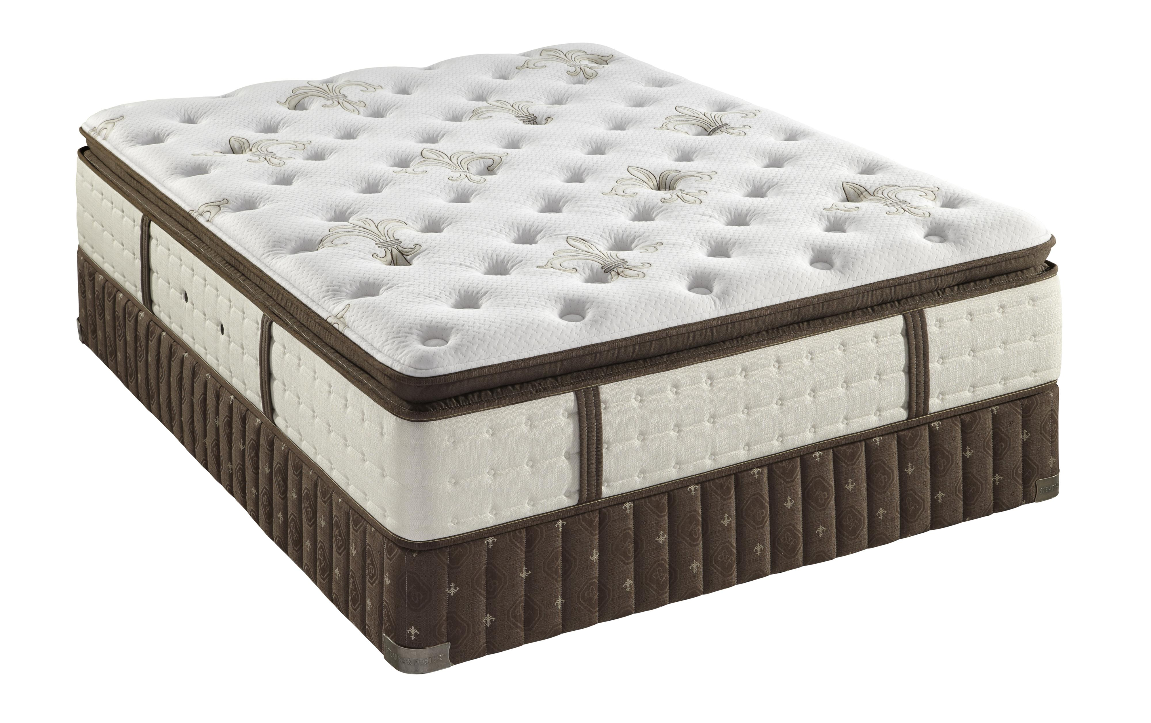Stearns & Foster Coningsby Queen Plush Euro Pillow Top Mattress Set - Item Number: PlushEPT-Q+608615Q