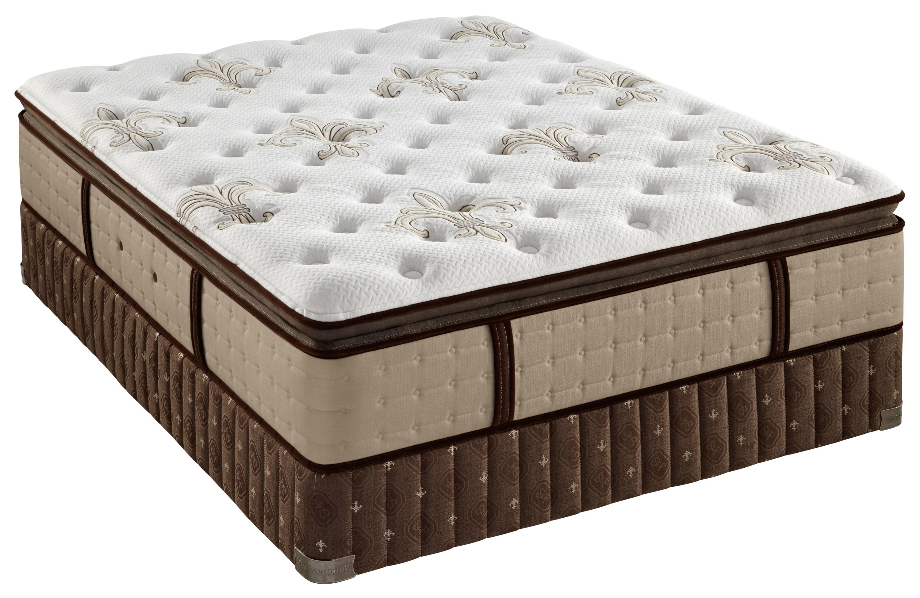 Stearns & Foster Friendfield King Plush Euro Pillow Top Mattress Set - Item Number: PlushEPT-K+2x608615TXLK
