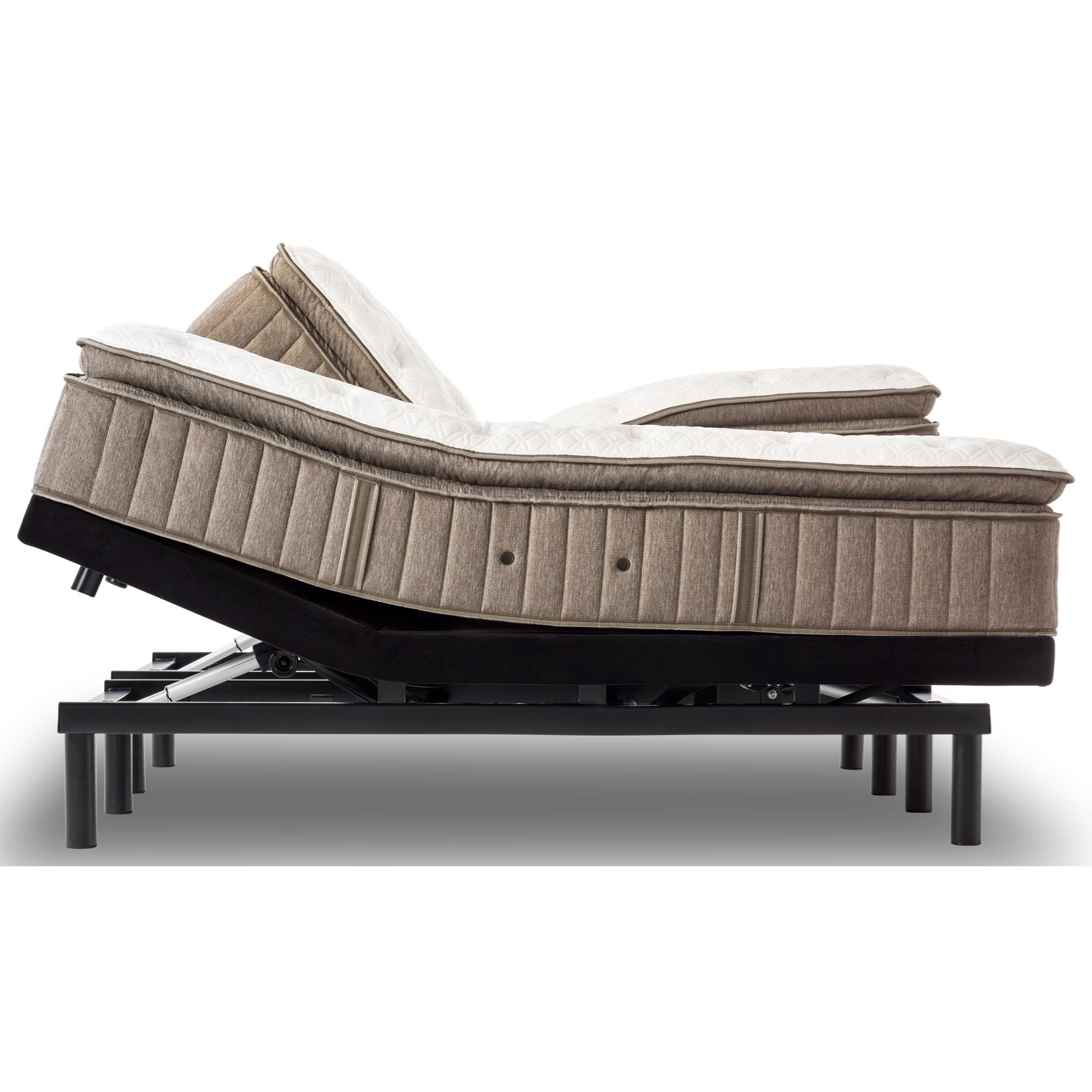 Stearns & Foster Villa Ascoli Cushion Firm Euro Top Queen Cushion Firm Euro PT Adjustable Set - Item Number: CushFirmEPT-Q+Ease-Q