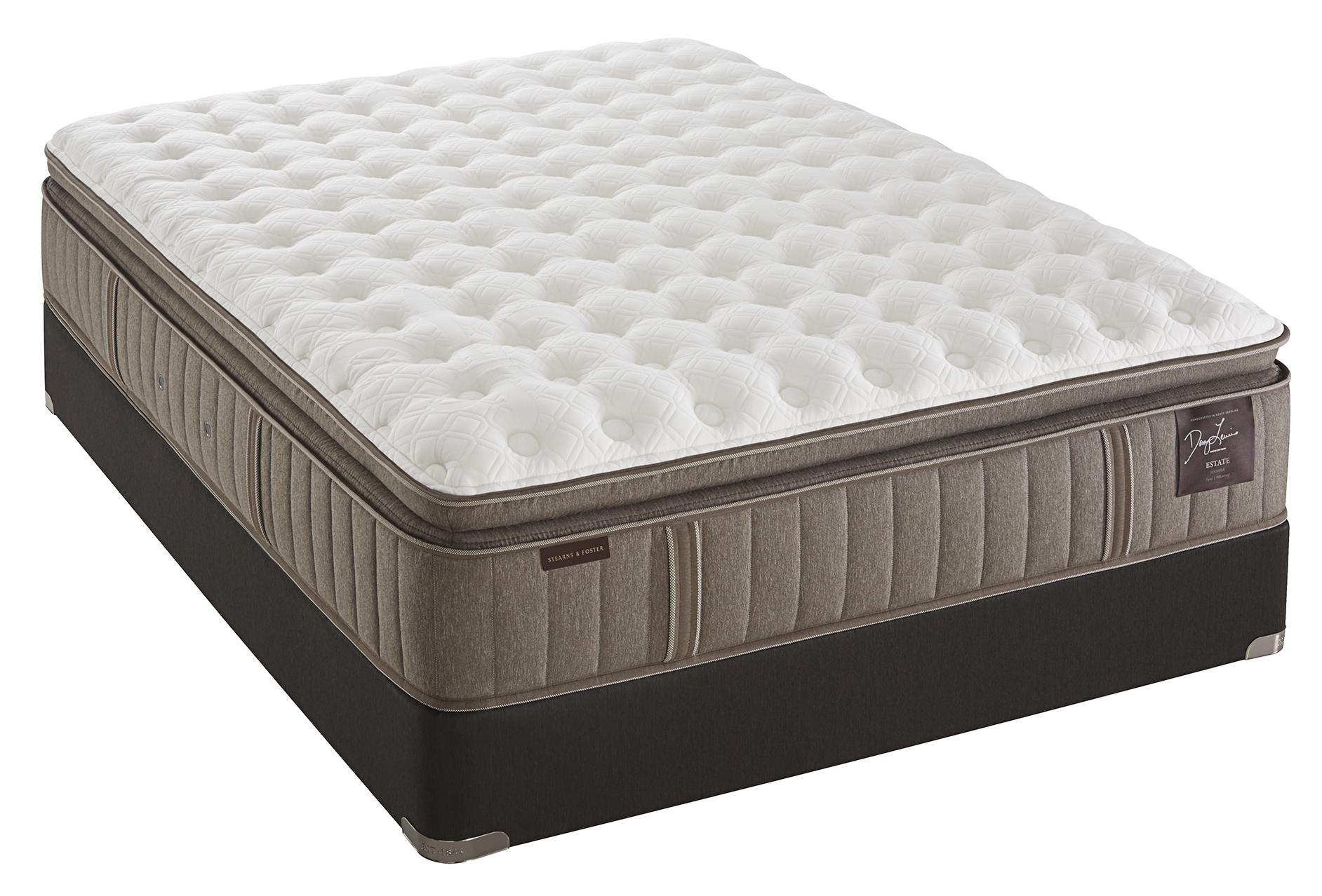 Stearns & Foster Oak Terrace Luxury Cushion Firm EPT Queen Cushion Firm Euro PT Mattress Set - Item Number: CushFirmEPT-Q+Ease-Q
