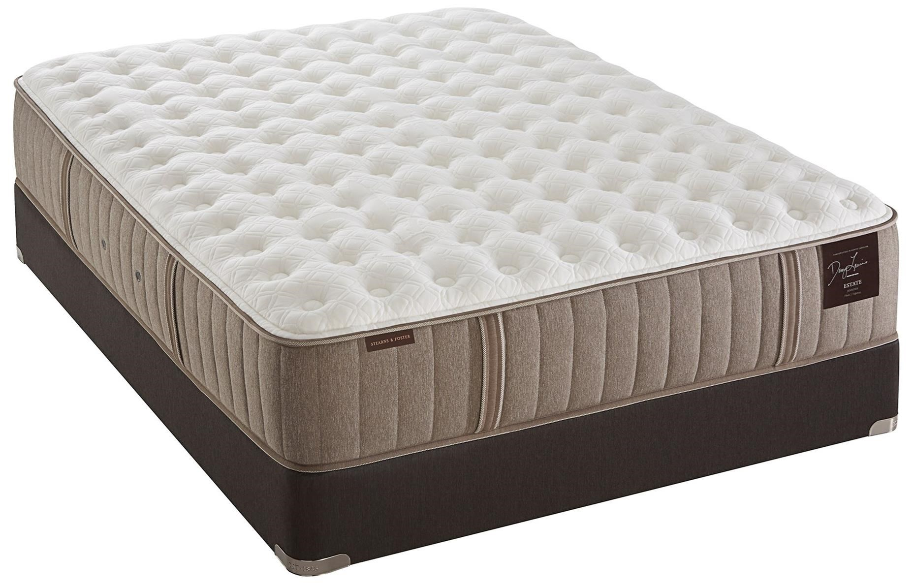 Stearns & Foster Oak Terrace Luxury Plush King Plush Tight Top Mattress Set - Item Number: Plush-K+2x609375TXL